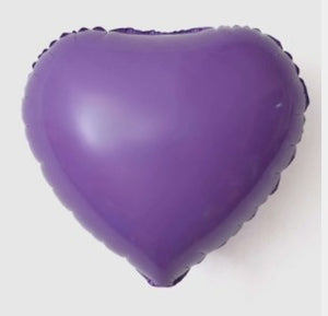 purple macaroon colored heart shaped foil balloon
