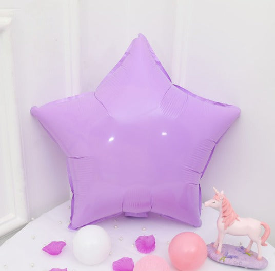 Purple Macaroon Star Shaped Balloon - 18in - PartyMonster.ae