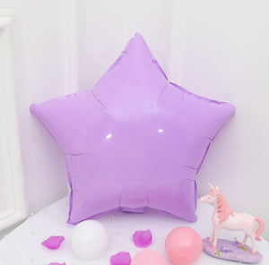 purple macaroon colored star shaped balloon