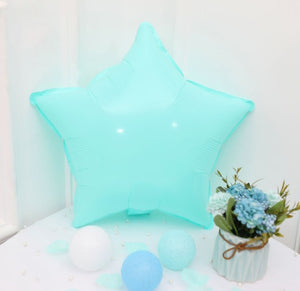 Blue Macaroon Star Shaped Balloon - 18in - PartyMonster.ae