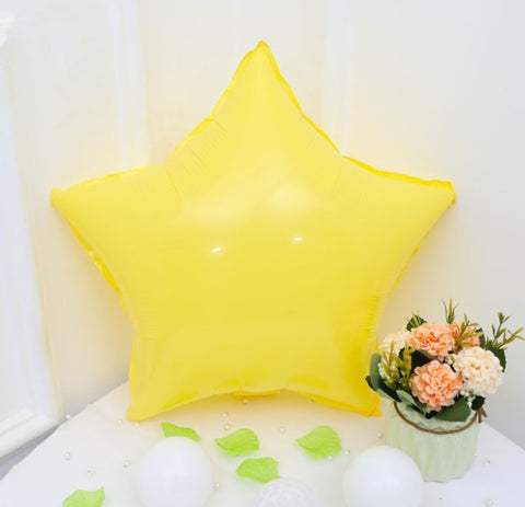 Yellow Macaroon Star Shaped Balloon - 18in - PartyMonster.ae