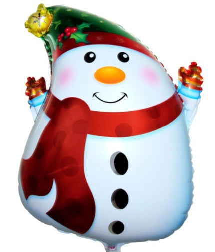Snow Man Shaped Foil Balloon- 49in - PartyMonster.ae