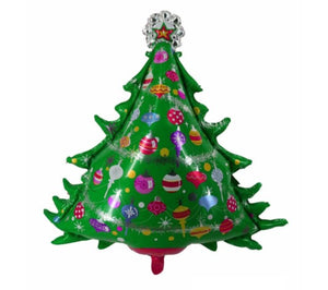 Jingle Bell Tree Shaped Foil Balloon- 38in - PartyMonster.ae