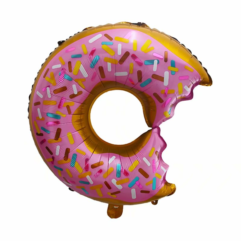 Donut Shaped Foil Balloon - 20in - PartyMonster.ae