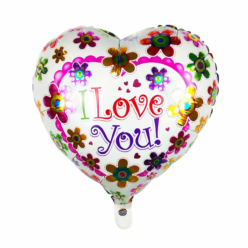 I Love You Flowers Balloon - 18in - PartyMonster.ae