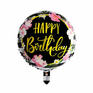 Black & Gold Happy Birthday Foil Balloon - 18in - PartyMonster.ae