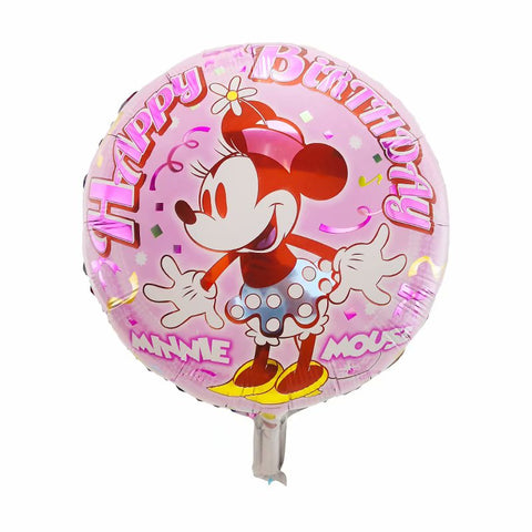 Minnie Mouse Birthday Foil Balloon - 18in - PartyMonster.ae