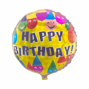 SmileyHappy Birthday Foil Balloon - 18in - PartyMonster.ae