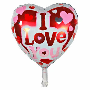 I Love You Red Heart Shaped Balloon - 18in - PartyMonster.ae