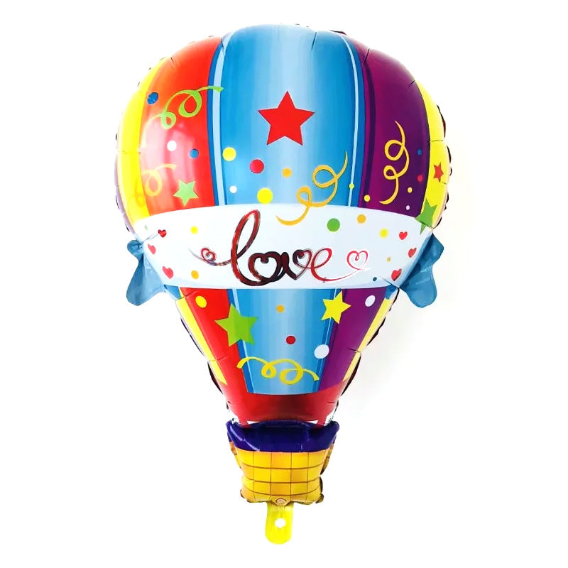 Hot Air Balloon Shaped Foil Balloon - 34in - PartyMonster.ae
