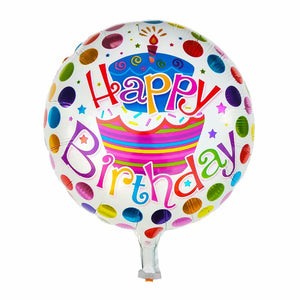 Happy Birthday Cupcake Foil Balloon - 18in - PartyMonster.ae