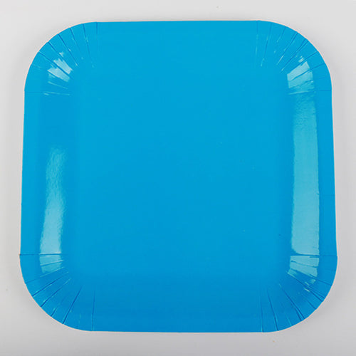 Blue Paper Plates - 10pcs - PartyMonster.ae