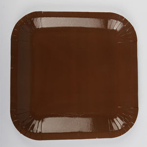 Brown Paper Plates - 10pcs - PartyMonster.ae