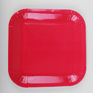 Red Paper Plates - 10pcs - PartyMonster.ae