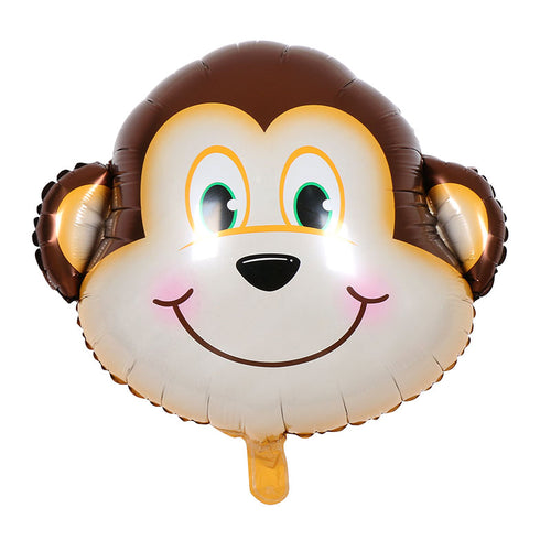 Happy Monkey Face Foil Balloon - 25in - PartyMonster.ae