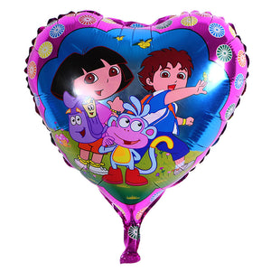 Dora and Friends Heart Shape Balloon - 18in - PartyMonster.ae