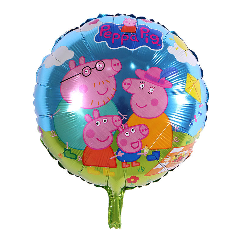 Peppa Pig Family Balloon - 18in - PartyMonster.ae