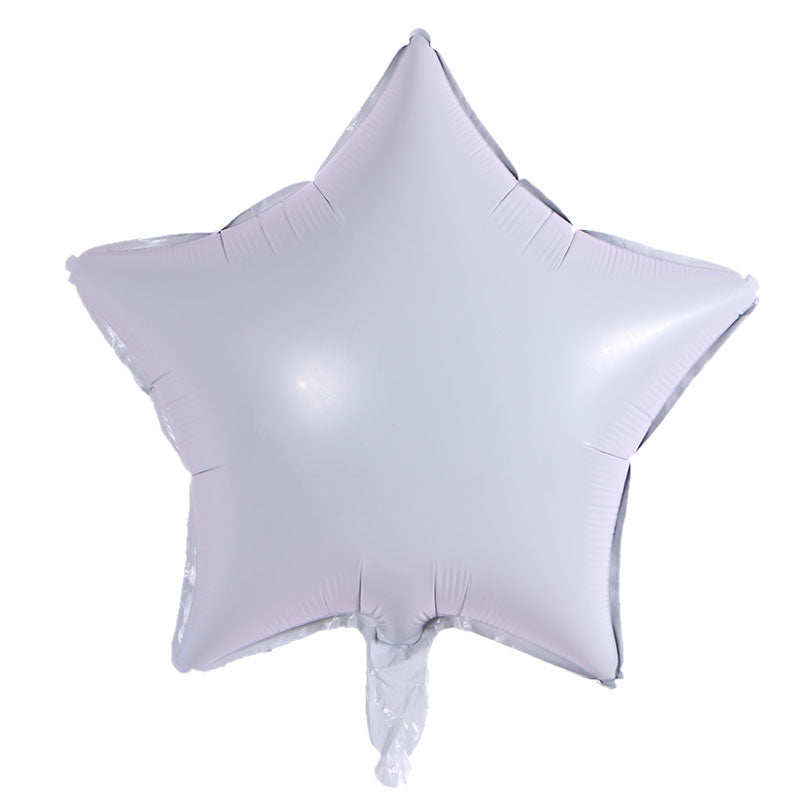 White Color Star Shaped Balloon - 18