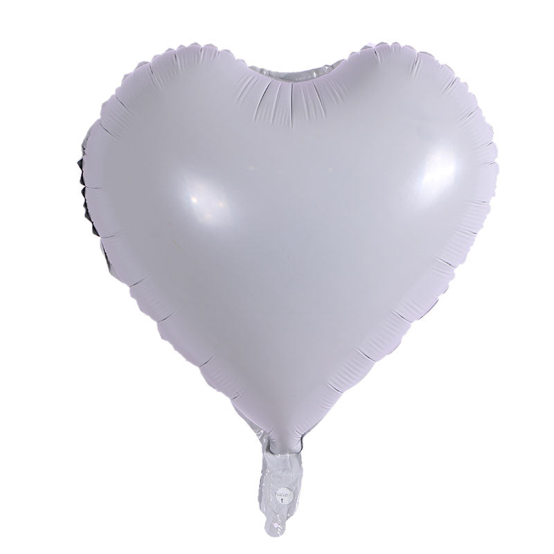 White Color Heart Shape Balloon - 18