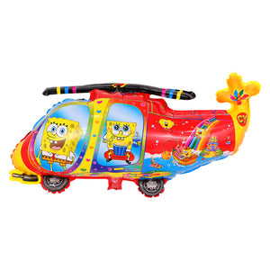 SpongeBob Helicopter Foil Balloon - 33in - PartyMonster.ae