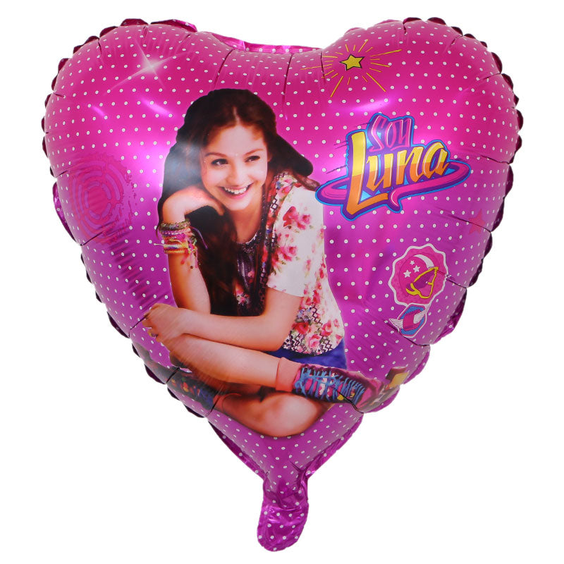 Soy Luna Heart Foil Balloon - 18in - PartyMonster.ae