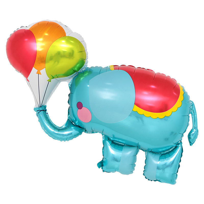 Blue Circus Elephant Foil Balloon - 44in - PartyMonster.ae