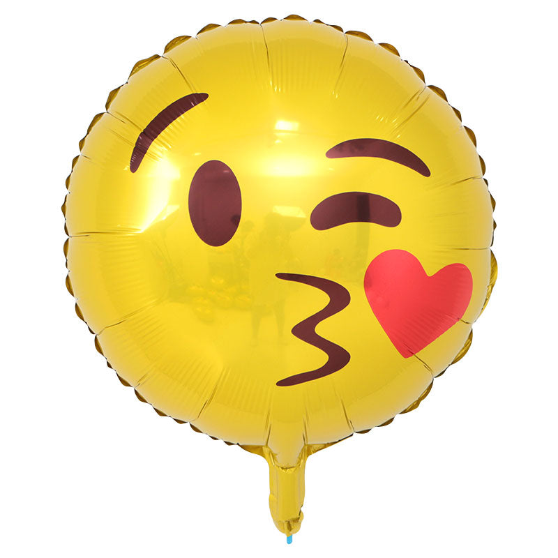 Emoji Kissing Heart - 18in - PartyMonster.ae