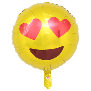 Emoji Heart Eyes balloon