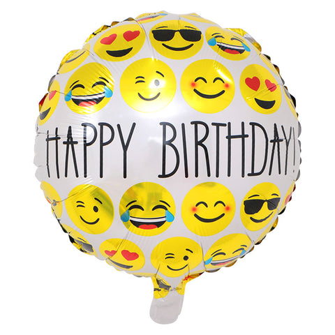 Happy Birthday Emojis Foil Balloon - 18in - PartyMonster.ae