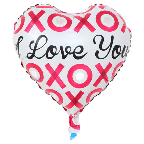 I Love You XOXO (Heart Shape) balloon