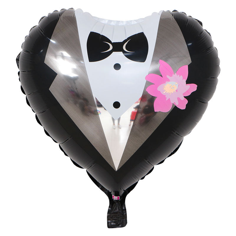 Tuxedo (Heart Shape) - 18in - PartyMonster.ae