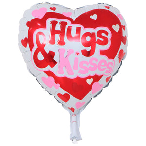 Hugs and Kisses (Heart Shape) balloon