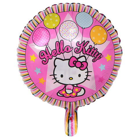 Hello Kitty Party Foil Balloon - 18in - PartyMonster.ae