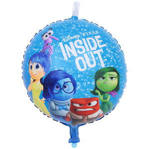 inside out blue foil balloon