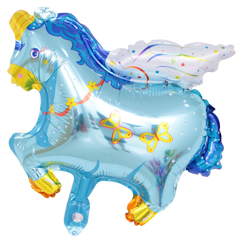 Blue Unicorn Shape Foil Balloon - 31in - PartyMonster.ae