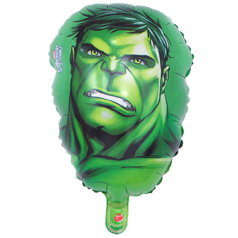 hulk face foil balloon