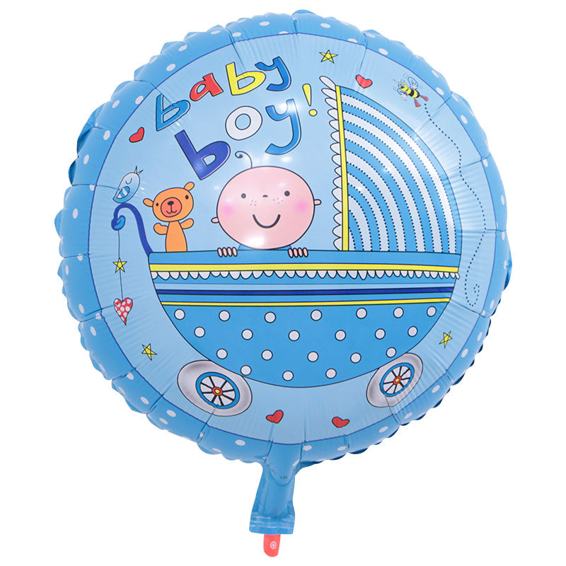 Baby Boy Foil Balloon - 18in - PartyMonster.ae