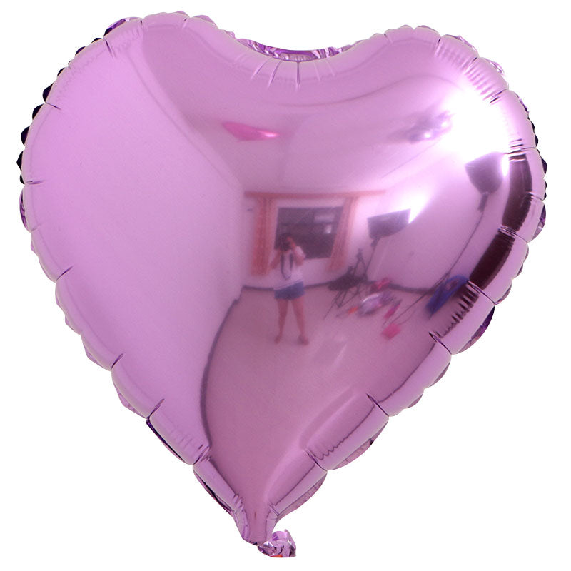 "Purple Color Heart Shaped Balloon - 18"" - PartyMonster.ae"
