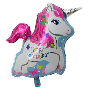 Happy Birthday Unicorn Shape Foil Balloon - 32in - PartyMonster.ae
