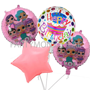 LOL Doll birthday balloons bouquet - PartyMonster.ae
