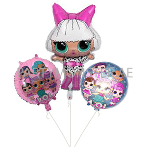 LOL Doll foil balloons bouquet - PartyMonster.ae