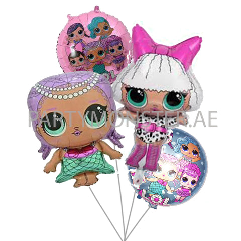 LOL Doll balloons bouquet - PartyMonster.ae