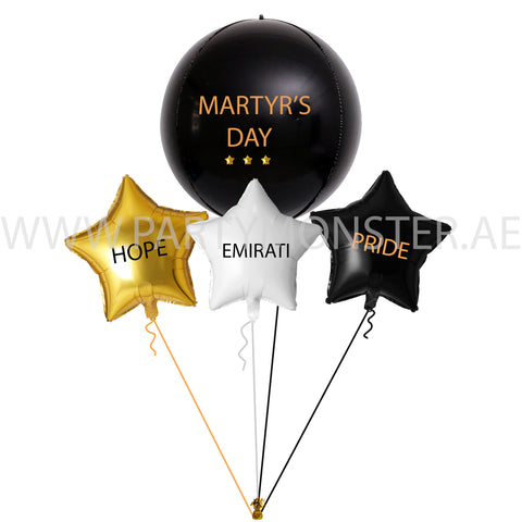 Martyr's Day Foil Balloons Bouquet