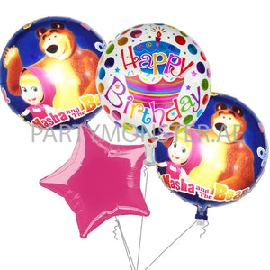 Masha and the Bear balloons bouquet - PartyMonster.ae