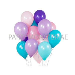 Mermaid Colours Latex Balloons Bouquet