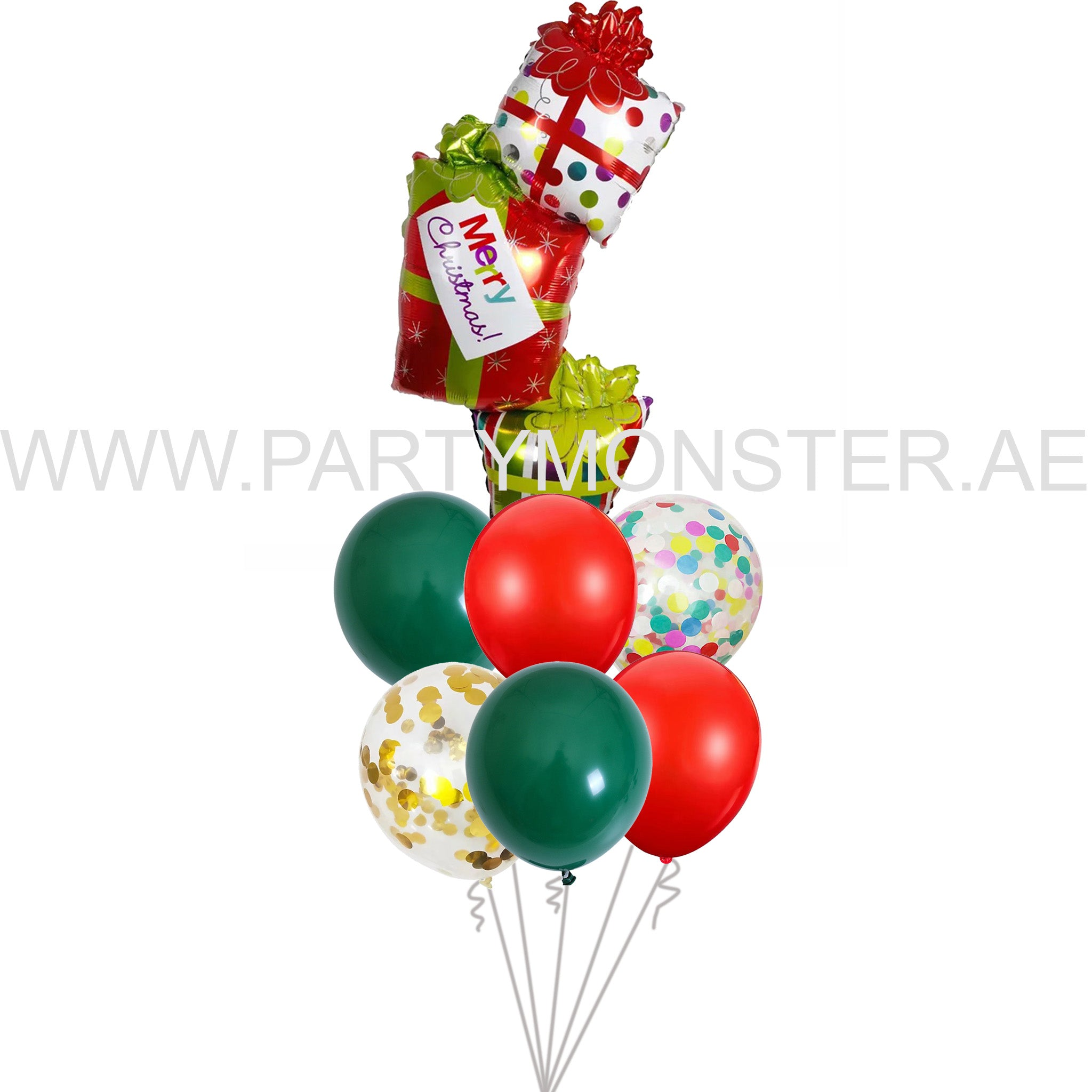Merry Christmas latex balloons for sale online in Dubai