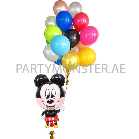 Mickey Mouse balloon man balloons bouquet - PartyMonster.ae