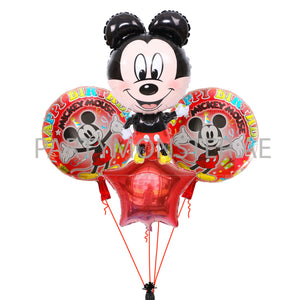 Mickey Mouse birthday balloon bouquet - PartyMonster.ae