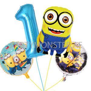 Minions any number balloons bouquet - PartyMonster.ae