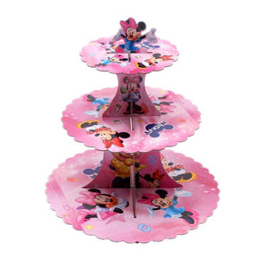 Minnie Mouse cartoon themed cupcake stand- 3 tier - PartyMonster.ae